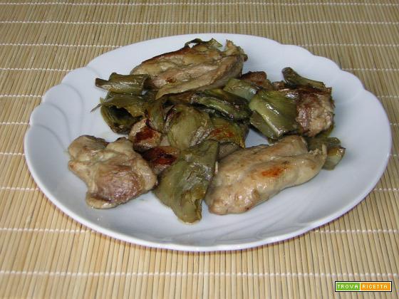 Sovracosce di pollo con carciofi