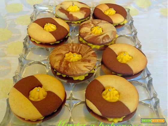 Ricetta biscotti occhio di bue variegati
