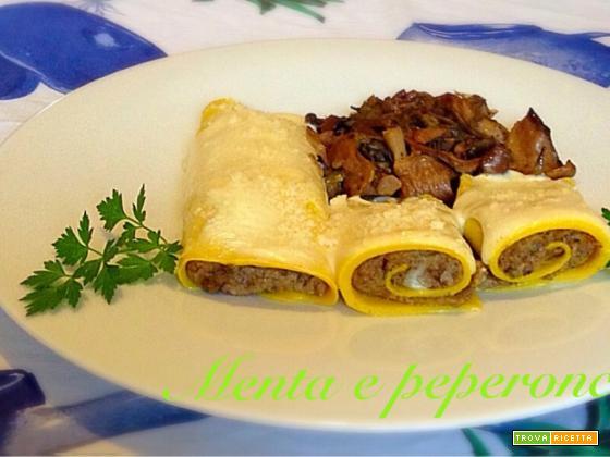 Ricetta Crespelle con funghi carciofi e formaggio