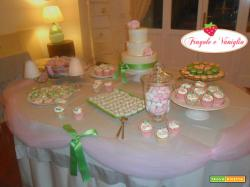 Sweet Table Verde e Rosa