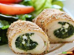 Involtini di pollo spinaci e mozzarella – ricetta