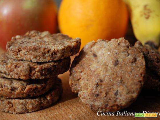 Biscotti con fiocchi di riso e chips di cioccolato