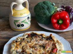 Quiche con tonno e verdure (senza latte, burro e formaggio)