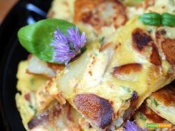 Frittata di ceci e patate agli aromi