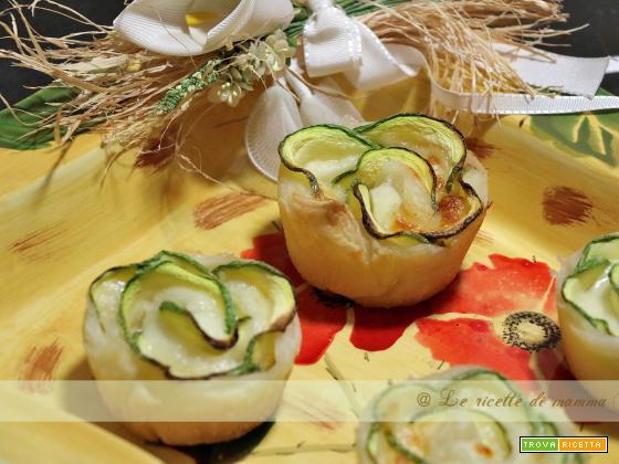 rose di zucchine e galbanino
