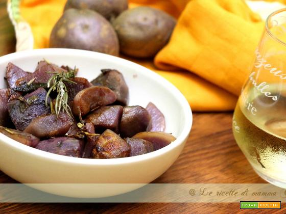 patate viola al rosmarino e vino bianco
