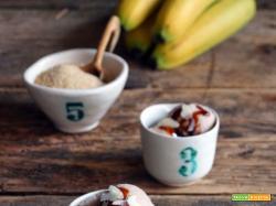 Gelato banana e vaniglia (senza latte e senza gelatiera)