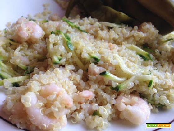 Senza Bimby, Quinoa Bianca con Zucchine e Gamberetti