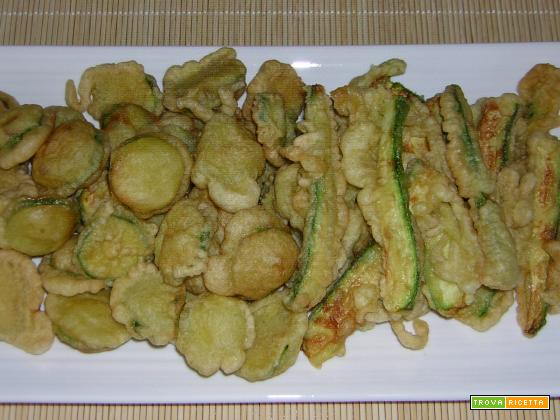 Zucchine fritte con pastella