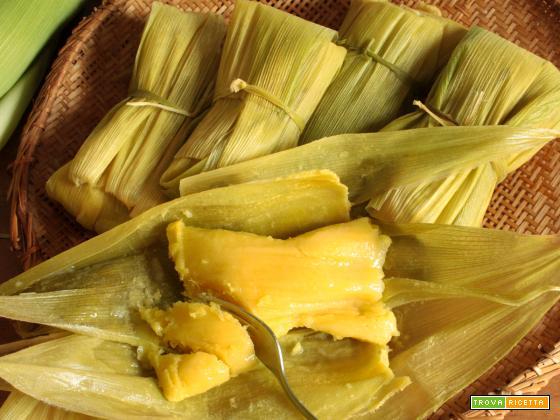 Pamonha (Polentina di mais dolce)