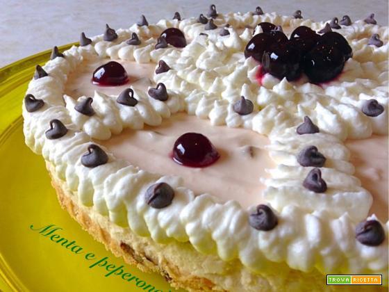 Ricetta Cheesecake con amarene e gocce al cioccolato