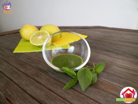 Salsa al basilico limone