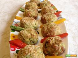 Polpette di zucchine con panatura alle nocciole