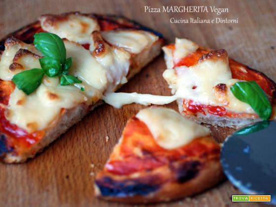 Pizza Margherita vegana con Mozzarella filante