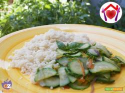 Cous cous estivo con zucchine e basilico