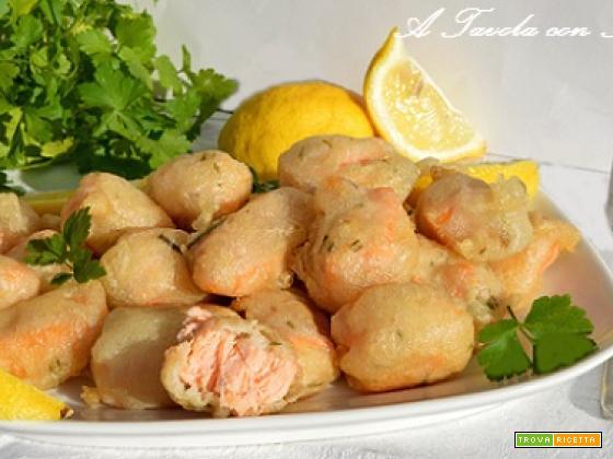 Frittelle di Salmone in Pastella