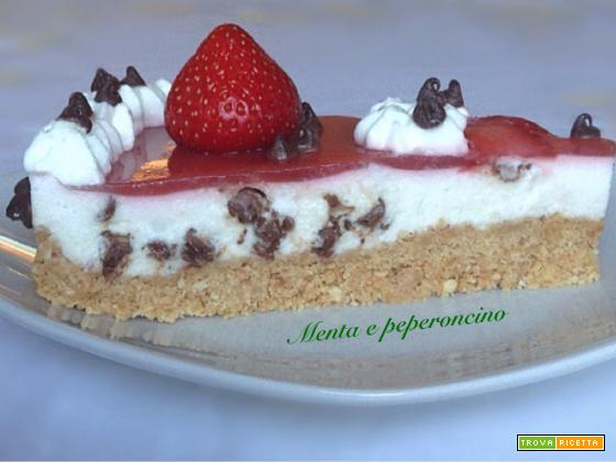Cheesecake con glassa alle fragole