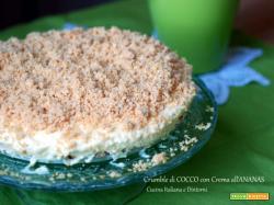 Sbriciolata di cocco con crema all'ananas, senza cottura