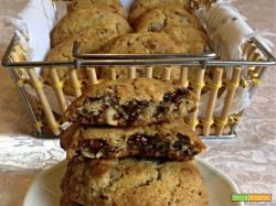 Ricetta Cookies con cioccolato e mandorle