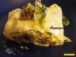 Pasta al forno con lattuga stufata e besciamella