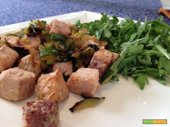 Senza Bimby, Pesce Spada con Zucchine, Rucola e Uova