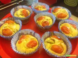 Senza Bimby, Muffin con Taccole e Pomodorini
