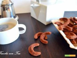 Biscotti di cioccolato aromatizzati al caffè