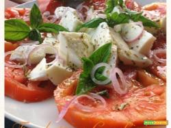 Insalata Caprese delizia con Olio Corrias all'origano