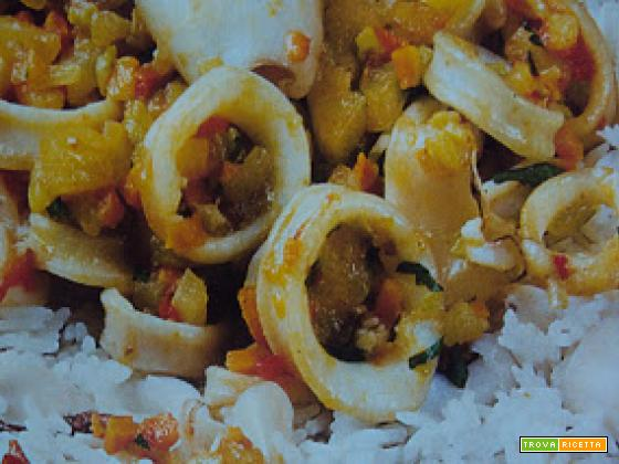 Calamari al curry