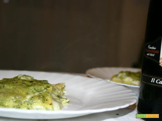 Lasagne con crema di zucchine e scamorza affumicata