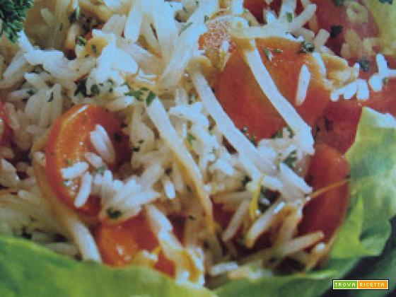 Riso basmati con germogli di soia e carote