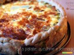 Torta di patate zucchine e formaggio