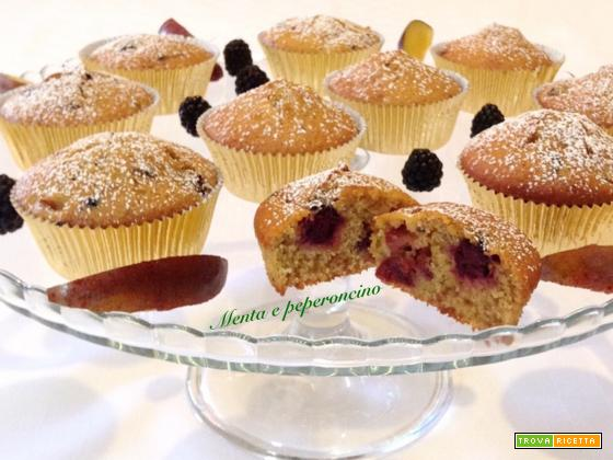 Muffin allo yogurt con more e prugne