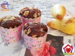 Muffin al cacao e pere