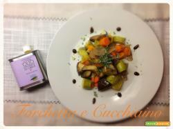 Ratatuille leggera di verdure al forno con olio Corrias al finocchietto