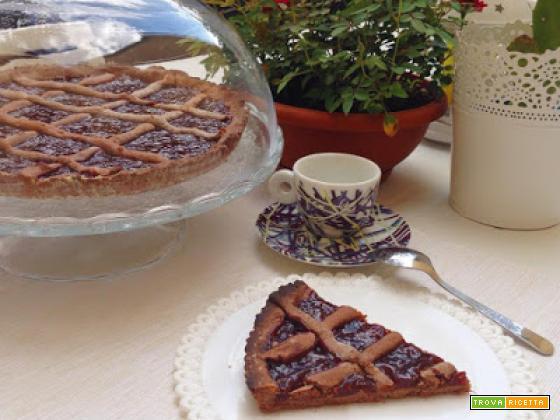 Crostata al cacao e marmellata di albicocche