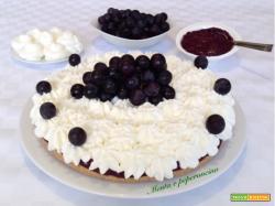 Torta fredda con sugoli e panna