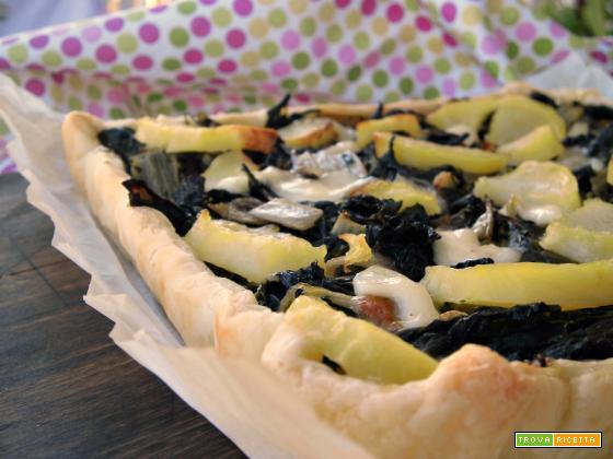 Torta rustica con bieta e patate