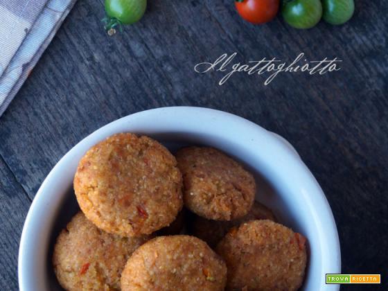 Crocchette di miglio con zucchini e pomodorini