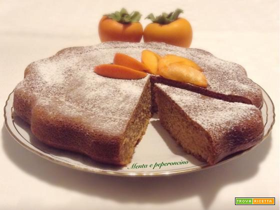 Torta soffice con cachi mela e ricotta