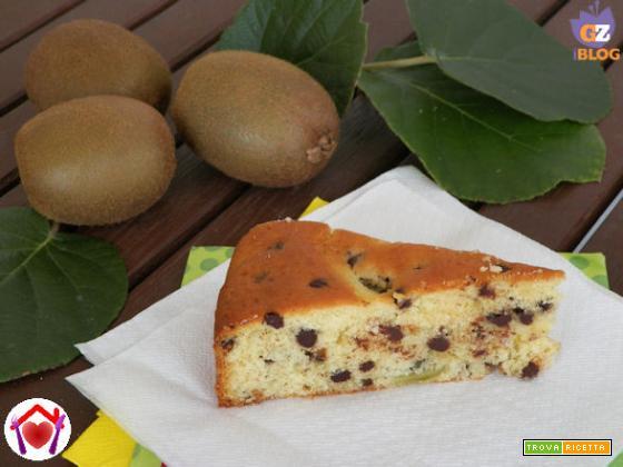 Torta al kiwi e gocce di cioccolato