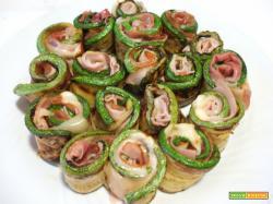 Rotolini di zucchine, prosciutto di Praga e Formaggio