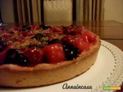 Crostata con gelatina di frutta e crema pasticcera