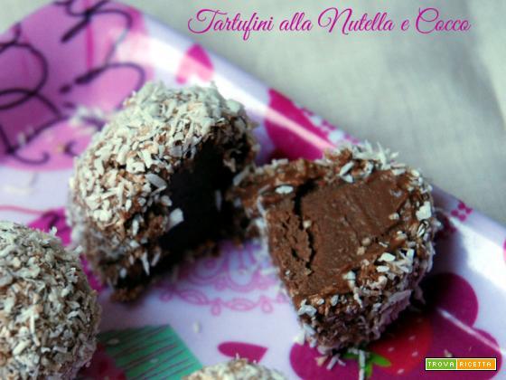 Tartufini Nutella e Cocco, ricetta senza cottura