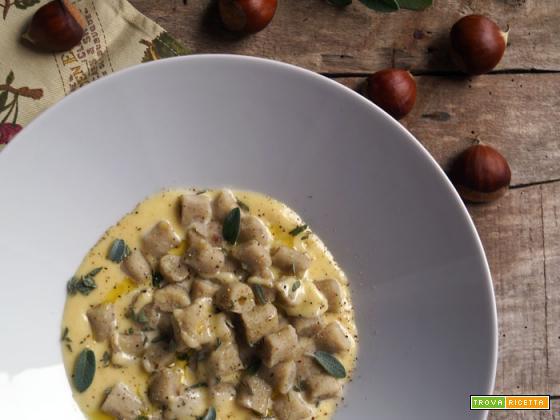 Gnocchetti di castagne con fonduta di Sbrinz e salvia fresca