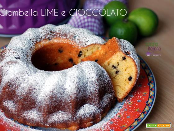 Ciambella al lime e cioccolato