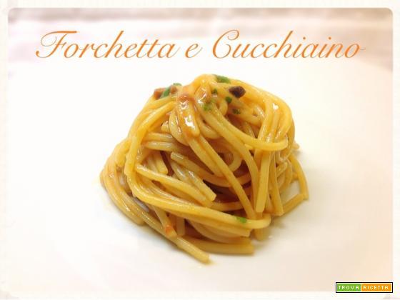 Spaghetti ricci e bottarga