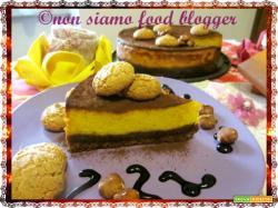 Cheesecake alla Zucca con ricotta e base di cioccolato