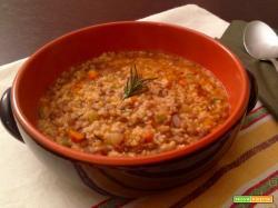 Zuppa di miglio e lenticchie