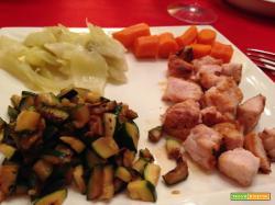 Senza Bimby, Pesce Spada alla Piastra, Carote, Finocchi, Tartare di Zucchine